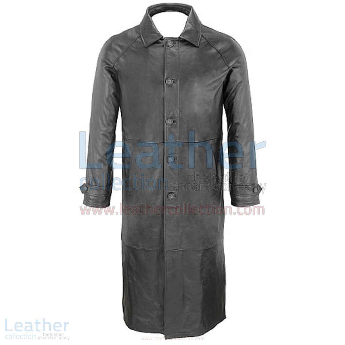 mens leather trench