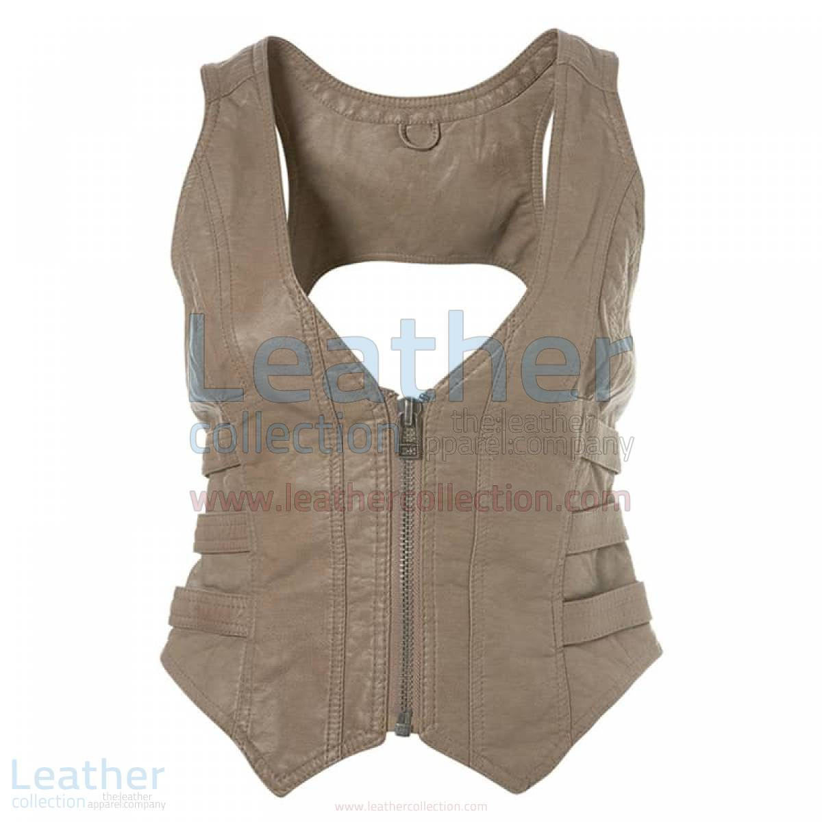 Fashion Short Leather Vest