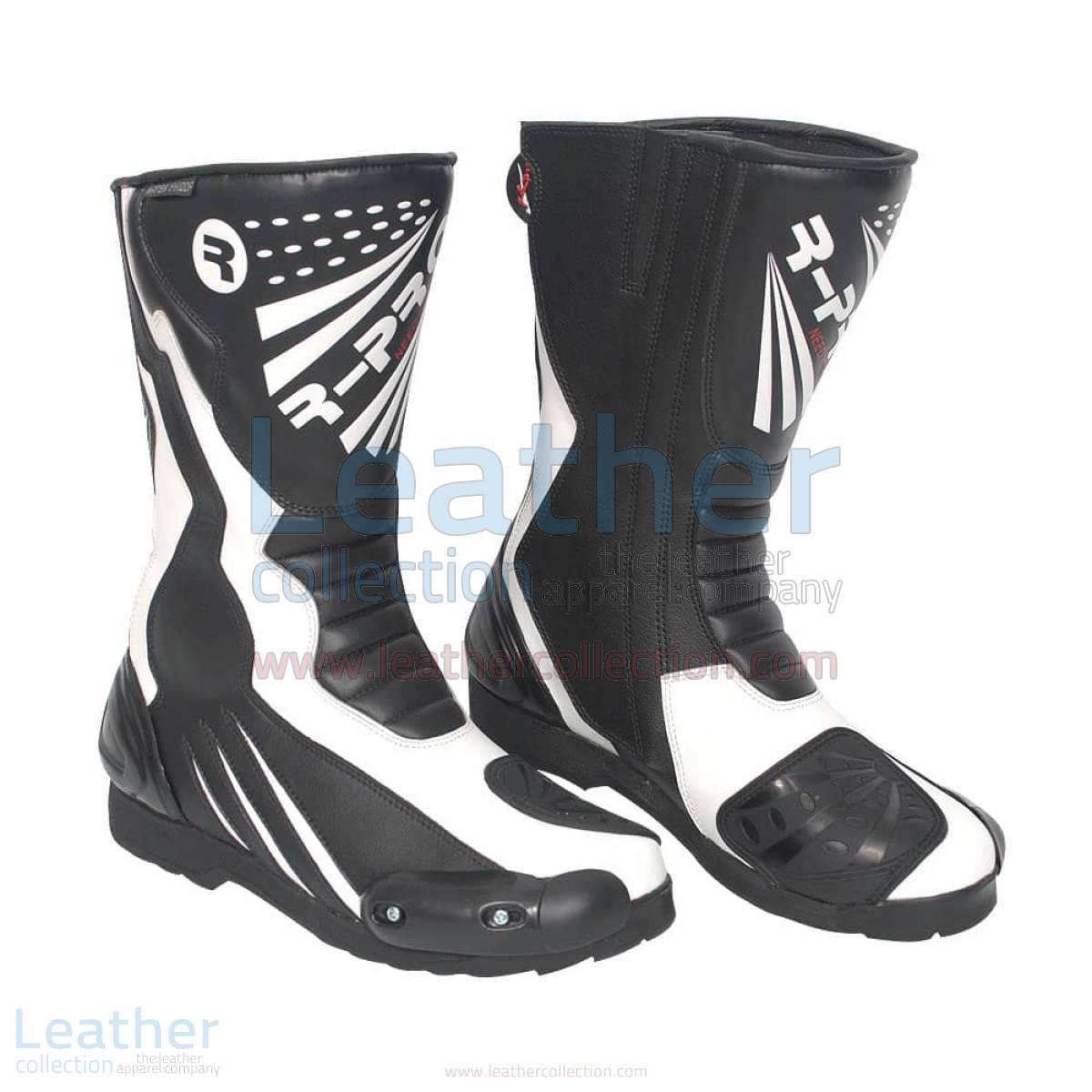 leather moto boots