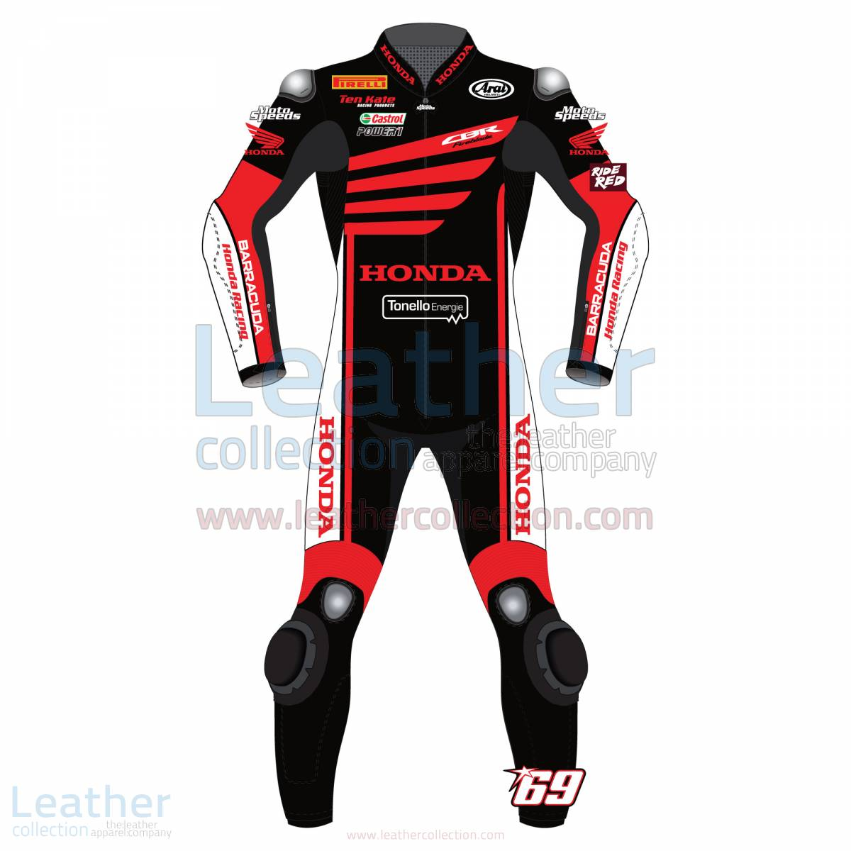 Nicky Hayden WSBK Winter Test Honda 2015 Motorcycle Suit