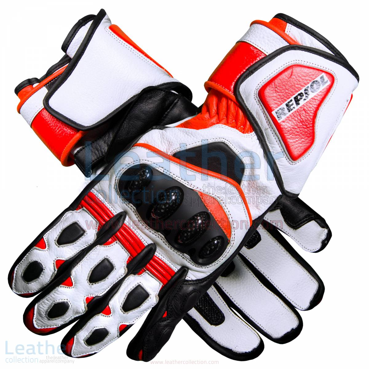 Repsol Pro Motorbike Leather Gloves