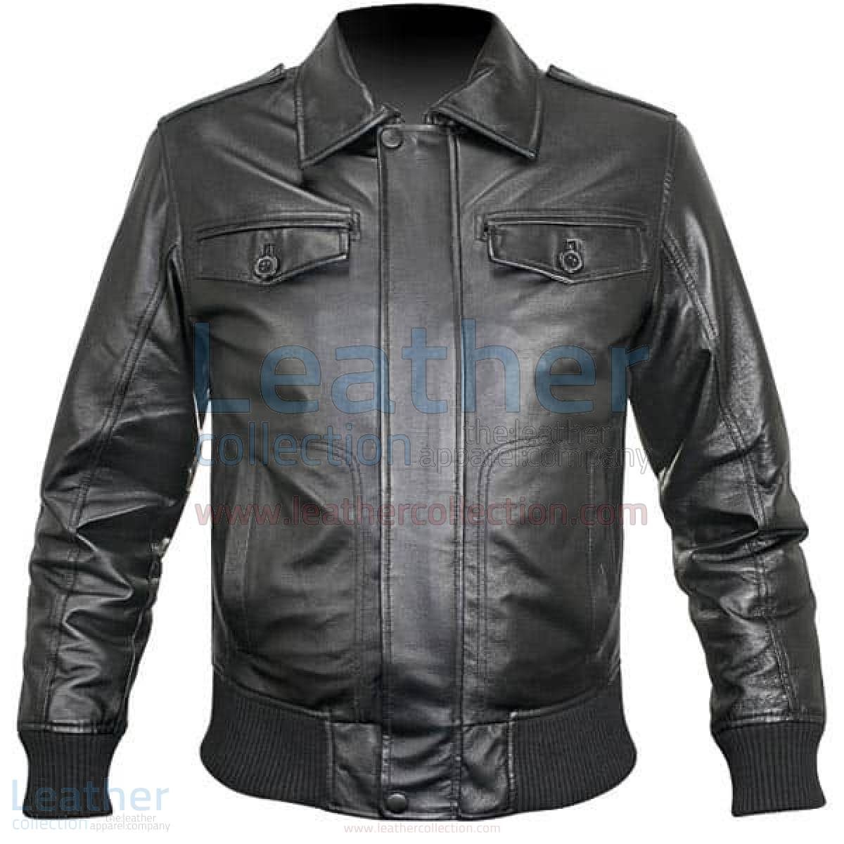 retro leather jacket mens