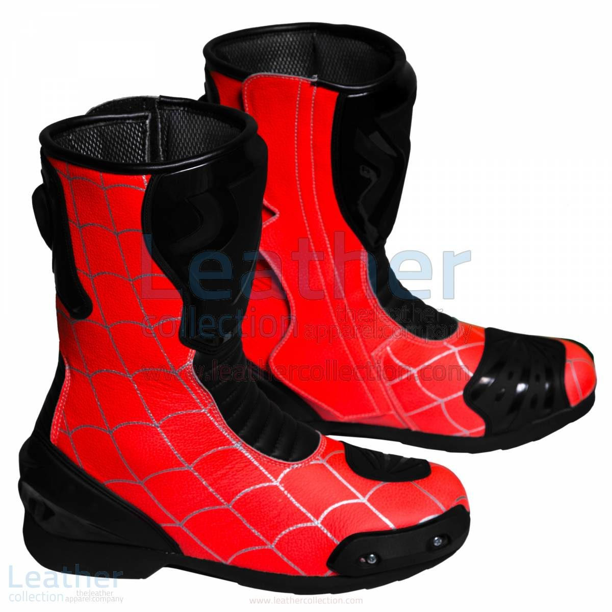 Spiderman Botas de carreras de motos