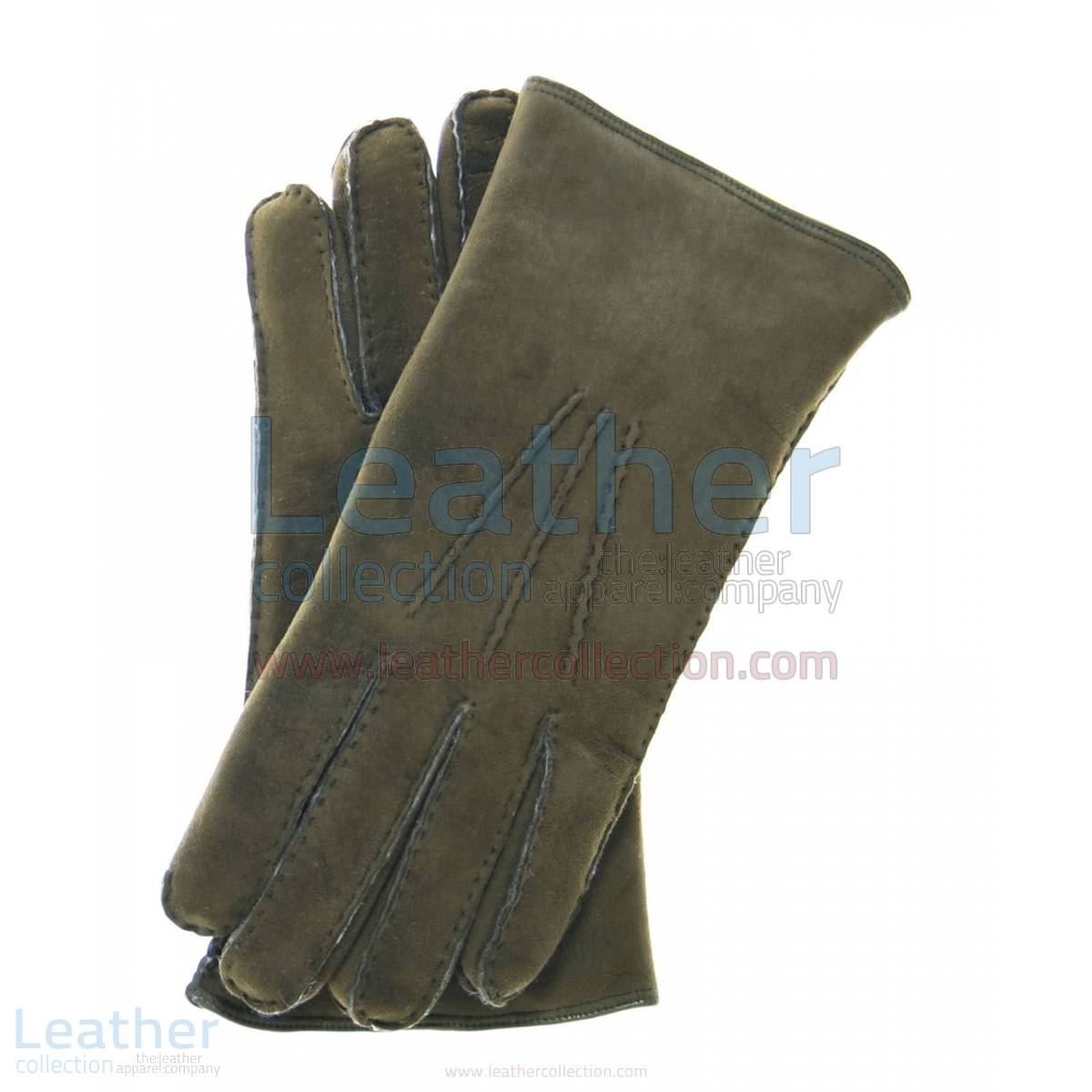 Sueded Lamb Shearling Fashion Gloves