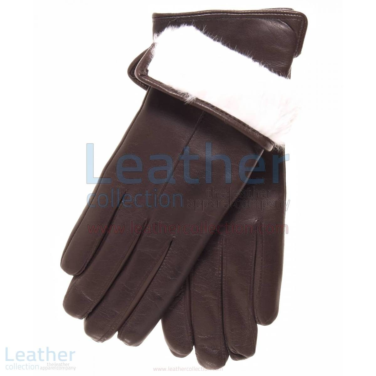 white fur lined gloves